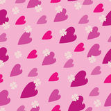 Heart pattern on the pink background Stock Images