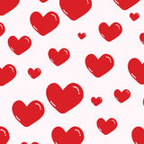 Heart pattern on pink Stock Images