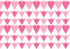 Heart pattern in pink. A positive negative heart pattern in pink and white color Stock Photography