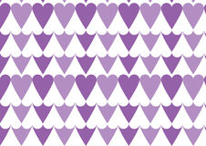 Heart pattern in purple. A positive negative heart pattern in purple and white color Stock Image