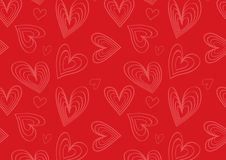 Heart pattern in red and pink. A feminine heart pattern for background Stock Photography