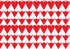 Heart pattern in red. A positive negative heart pattern in Red and white color Stock Images