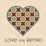 Heart with pattern in retro colors Stock Photos