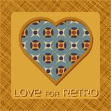 Heart with pattern in retro colors Royalty Free Stock Photos