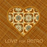 Heart with pattern in retro colors Stock Photo