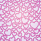 Heart Pattern Seamless. Vector seamless pattern with hearts Royalty Free Stock Photography