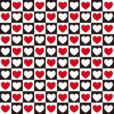 Heart Pattern Seamless. Vector seamless pattern with hearts Royalty Free Stock Image