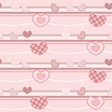 Heart pattern seamless background Royalty Free Stock Photos