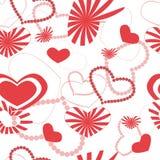 Heart pattern seamless background Stock Photos