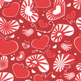 Heart pattern seamless background Royalty Free Stock Image