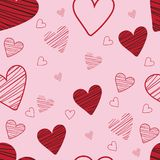 Heart pattern seamless background. And holiday valentine day with vector design stock illustration