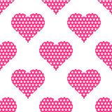 Pink hearts symbol pattern on white background. Heart pattern seamless background vector for web, print, illustration and decoration royalty free illustration