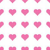Pink hearts symbol pattern on white background. Heart pattern seamless background vector for web, print, illustration and decoration stock illustration