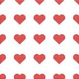 Red hearts symbol pattern on white background. Heart pattern seamless background vector for web, print, illustration and decoration vector illustration