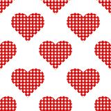 Red hearts symbol pattern on white background. Heart pattern seamless background vector for web, print, illustration and decoration stock illustration