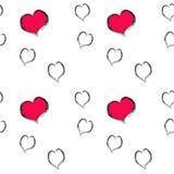 Heart pattern seamless Stock Photo