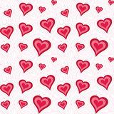 Heart pattern. Seamless pattern with heart shapes and scroll lines  illustration Stock Image