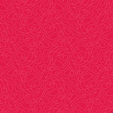 Heart pattern. Seamless pattern with heart shapes and scroll lines vector illustration Stock Images
