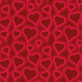 Heart pattern. Seamless pattern with heart shapes and scroll lines vector illustration Royalty Free Stock Photo