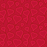 Heart pattern. Seamless pattern with heart shapes and scroll lines vector illustration Stock Photo