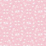 Heart pattern. Seamless pattern with heart shapes and scroll lines vector illustration Royalty Free Stock Image