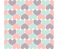 Heart Pattern. Seamless Simply Heart Pastel Pattern Valentines Stock Photography