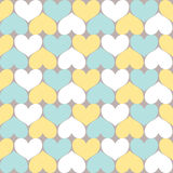 Heart Pattern. Seamless Simply Heart Pastel Pattern Valentines Stock Image