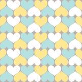 Heart Pattern. Seamless Simply Heart Pastel Pattern Valentines royalty free illustration