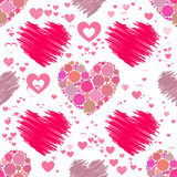Heart pattern. Seamless . Valentine s Day. Heart pattern. Seamless pattern. Valentine s Day. illustration. used for printing, websites, decor design telephone Royalty Free Stock Photography