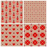 Heart pattern set. For Valentine's day Stock Images