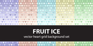 Heart pattern set Fruit Ice Royalty Free Stock Photography