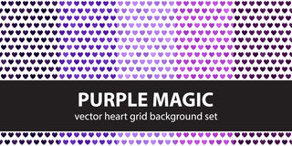Heart pattern set Royalty Free Stock Photos