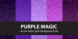 Heart pattern set Purple Magic Royalty Free Stock Photo