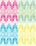 Heart pattern. Set of romantic multi coloured heart pattern Stock Photos