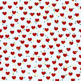 Heart pattern with stars. Seamless vector valentine background Royalty Free Stock Images