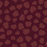 Heart pattern with tartan ornament. Seamless. Stock Photo