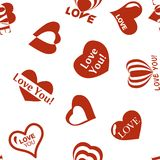 Heart pattern to Valentines Day. Seamless texture with Hearts Royalty Free Stock Photo