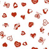 Heart pattern to Valentines Day. Seamless texture with Hearts Stock Photography