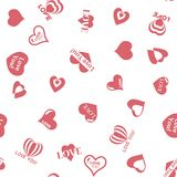 Heart pattern to Valentines Day. Seamless texture with Hearts Stock Image