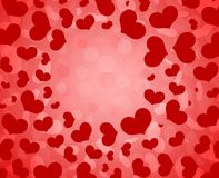 Heart pattern Valentine`s Day background. stock photo
