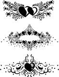 Heart Pattern (Vector). An silhouette of three heart pattern Stock Images