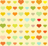 Heart pattern, vector seamless background. Heart pattern on yellow, vector seamless background Royalty Free Stock Images