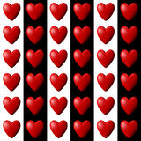 Heart Pattern with Vertical Stripes Royalty Free Stock Photography