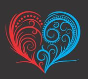 Heart. Pattern of water and fire in the form of heart Royalty Free Stock Photo