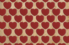Heart pattern wood Stock Images