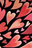 Heart patterned paper. Stock Photos