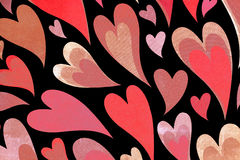 Heart patterned paper. Stock Image