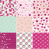 Heart patterns Royalty Free Stock Image
