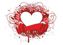 Heart with patterns Stock Photography