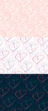 Heart patterns. Royalty Free Stock Photography